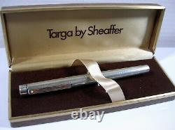 Stylo Sheaffer Argent Massif Plume Or Ancien De Collection