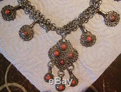 Sublime Collier Berbere, Kabyle Ancien, Bijou Ethnique Maghreb, Kabylie