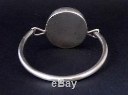 Superbe ancien vintage bracelet argent massif et quartz années 70 créateur