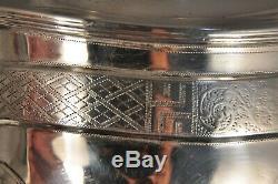 Theiere Ancien Argent Massif Antique Solid Silver Tea Pot Chester 1911 486gr