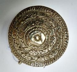 Très ancienne boite à bethel ouvragée en argent Bouthan 17/18e
