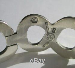 Très important bracelet ancien créateur Taxco Mexique Argent massif 925 67g