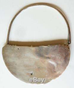 Une boucle d'oreille argent massif ethnique Gabès Tunisie ancien silver earring