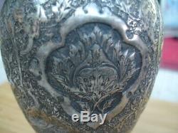 Vase Ancien Argent Massif Russe 84 Empire Ottoman Persen 1910
