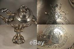 Verseuse Cafetiere Ancien Argent Massif Antique Coffee Pot Mo Harleux 777 Gr