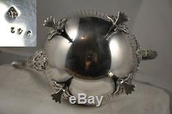 Verseuse Theiere Ancien Argent Massif Minerve Antique Solid Silver Tea Pot