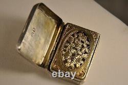 Vinaigrette Ancien Argent Massif Antique Solid Silver Georgian Scent Box 1810