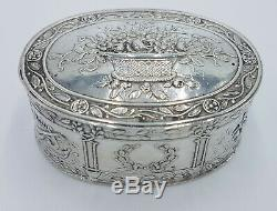 XVI ANCIENNE BOITE PILULIER ARGENT MASSIF ANGLAIS snuff pill box sterling silver